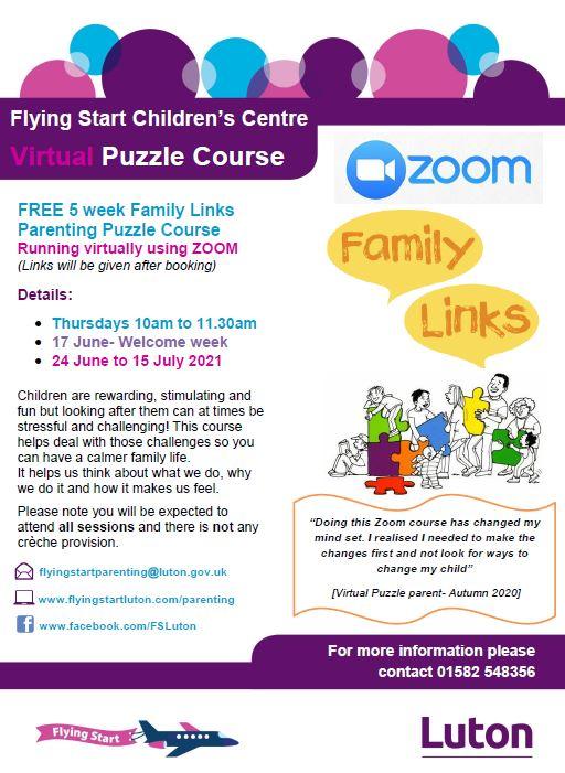 Parenting Puzzle Poster June/July dates